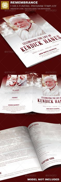 In Loving Memory Funeral Program Template 005 Program template - funeral flyer template