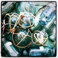 Glass floats...