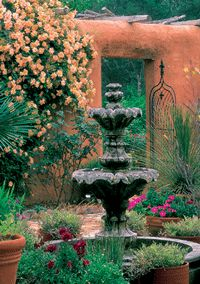 Xeriscaped Spanish Courtyard...