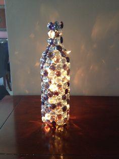 Wine bottle crafts - DIY nightlight