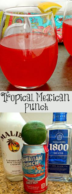 Tropical Mexican Punch ~ A fruity adult beverage that transports you to a Mexican beach. ~ The Complete Savorist