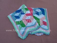 3d illusion afghan block pattern | FASCINACIÓN - Manta de hexágonos | Flickr - Photo Sharing!