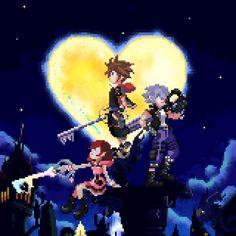 Sora, Riku and Kairi Sora Kingdom Hearts, Kingdom Hearts Heartless, Kingdom Hearts Funny, Creepers, Arte Final Fantasy, Kingdom Hearts Wallpaper, Devil May Cry, Video Game Art, Mega Man