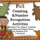 This set has five activities all geared for recognizing the number, counting a quantity the number represents, number word recognition and number w...