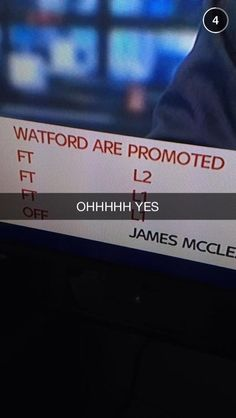 It feels real now we're watfordfc we're premier league!