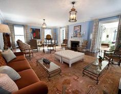 This grand brick manor estate, dubbed Beechcroft, is located at 25 Sherwood Avenue in Greenwich, CT. It was built in 1930 and has been beautifully restored and renovated. It is situated on 14.85 lands