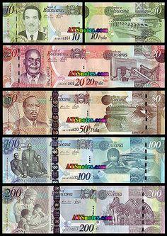Botswana banknotes - Pula