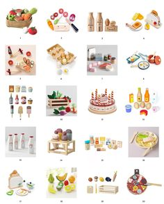 Tips for Stocking Your Play Kitchen + 36 of the Cutest Accessories! | via Yellow Brick Home Hot Dog Soup, Play Kitchen Accessories, Pretend Food, Pretend Play, Brass Wood, Third Birthday, Dish Towels, Vintage Tea, Kids Playing