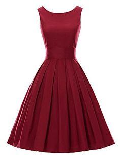 Luouse Sommer Damen Ohne Arm Kleid Dress Vintage petticoat kleid Junger abendkleid, http://www.amazon.de/dp/B01DBK30VG/ref=cm_sw_r_pi_awdl_3pwbxb0KGYMRS