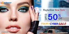 Get up to 50% discount on Maybelline New York products. Why pay more? #Lazada #PHLZD #Offer #Paylesser Why pay more?