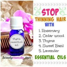 Stop hair from thinning by using these hair growth stimulating essential oils!