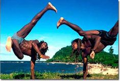 Capoeira is a martial art developed by African slaves in Brazil around the year 1500's. Dance-like movements in capoeira and dotted heavily on kicks. The fight in capoeira is usually accompanied by music and called Jogo. Capoeira is often criticized because many people doubted its worth in real combat, compared to other martial arts such as karate or taekwondo.