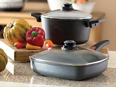 Sapphire Celebrations Cookware on sale for the month of March. Sapphire crystals create a hard, non stick, scratch resistance layer. Cast aluminum Alloy. No risk of warping. Tempered glass lids are break resistant and oven proof to 480 degree. Healthy cooking- no oil needed! On Sale from $79 - $149. See them at www.celebratinghome.com/sites/EasyOrder
