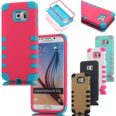 For Samsung Galaxy S6 Edge+ Plus Case Hybrid Shockproof Rugged Rubber Hard Cover
