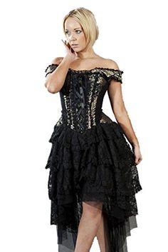 cd3aa7aa8 Burleska Womens Ophelie Steampunk Corset Dress (X-Small
