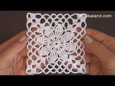 Crochet Tablecloth Pattern, Crochet Motif Patterns, Crochet Quilt, Thread Crochet, Crochet Designs, Easy Crochet, Doilies Crochet, Crochet Flower Squares, Granny Square Crochet Pattern