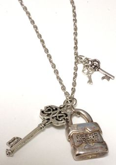 36 Long Key and Lock Necklace wtih  Made in Canada by LinksLocks, $20.00