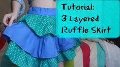 TUTORIAL | Circle Skirt | WITH RUFFLES - YouTube