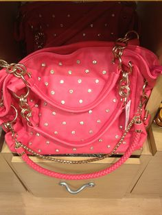 studded gold and pink bag
