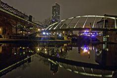 Castlefield's Millennium Bridge at Night