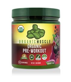 Natural Organic Pre-Workout Supplement - Berry Flavor
