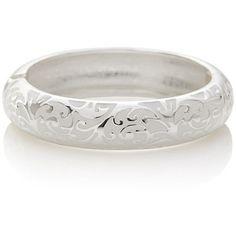 The Limited Scroll Pattern Hinge Bracelet White