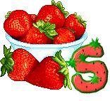 Alfabeto de fresas.