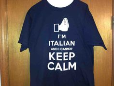 KEEP CALM ITALIAN T-SHIRT NAVY | La KASUAL Mode