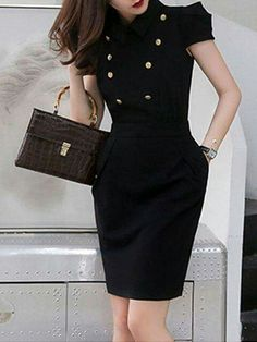 Dress black summer shirts 55 ideas for 2019 – Q Outfits – Summer Outfit Ideas Elegant Dresses For Women, Trendy Dresses, Nice Dresses, Casual Dresses, Short Dresses, Fashion Dresses, Dresses For Work, Dresses Dresses, Formal Dresses