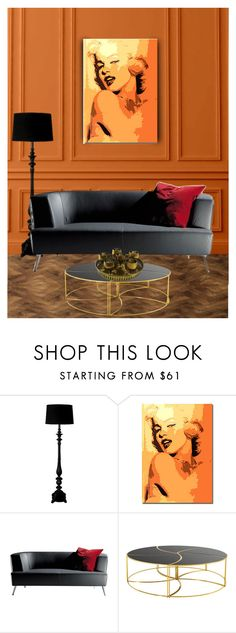 """Marilyn"" by marijana71 ❤ liked on Polyvore featuring interior, interiors, interior design, home, home decor, interior decorating, Threshold, MOROSO and Eichholtz"
