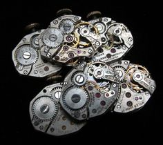 Vintage Watch Movements Parts Steampunk by amystevensoriginals