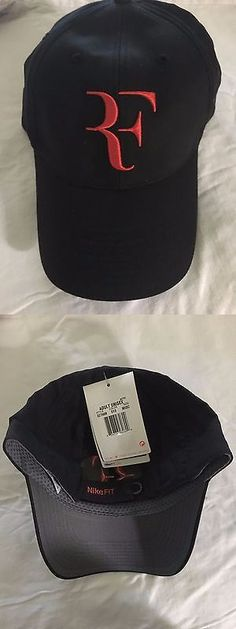 Hats and Headwear 159160     Rare Roger Federer Nike Black And Red Cap Hat 2b52f0166ad1