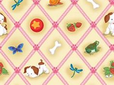 Old Country Store Fabrics - Quilting Treasures - Poky Little Puppy - 22077-EP 8.30 yd
