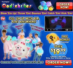 Oodlebrites are color-changing, inflatable stuffed animals. Read our Oodlebrites review plus additional information from our editors.