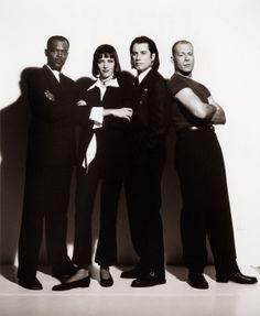 """120   O elenco de """"Pulp Fiction - Tempo de Violência"""" (1994)"""