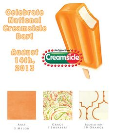 """August 14th is National Creamsicle Day! While it is not noted in any official legislation or designation as a holiday, it is observed in the United States as an unofficial day of celebration. This sweet treat has been around for many years. Originally invented by Frank Epperson, he discovered the possibility of a frozen treat on a stick in 1905 at age 11. An accident that was nicknamed the """"Epsicle"""", which was later renamed the Popsicle."""