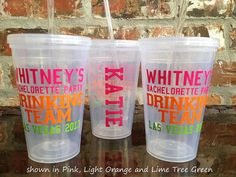 Personalized Bachelorette Party Tumbler 16 ounce -Drinking Team - PRIORITY SHIPPING on Etsy, $10.00