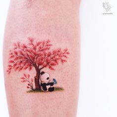 101 Amazing Panda Tattoo Ideas You Need To See!   Outsons   Men's Fashion Tips And Style Guide For 2020 Best Friend Tattoos, Mom Tattoos, Cute Tattoos, Body Art Tattoos, Small Tattoos, Tattoo P, Cover Up Tattoos, Panda Bear Tattoos, Henna Tattoo Designs Simple