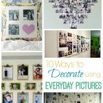 I know I am totally guilty of over snapping...but oh the memories I am collecting! Today I have rounded up 10 great ways to display said photos and get them off your phones and on to your walls!