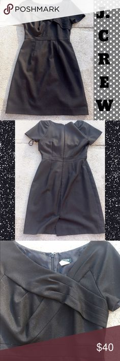 Jcrew Black Dress This beauty is perfect for any occasion. Very stylish. Only worn once by myself. Purchased through another posher. Quickly outgrew it. In absolute perfect condition. No flaws. J. Crew Dresses