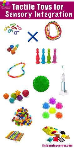 Tactile Toys: Toys for Sensory Defensiveness and Tactile Stimulation - Integrated Learning Strategies Autism Sensory, Baby Sensory, Sensory Toys, Sensory Activities, Infant Activities, Sensory Motor, Learning Tips, Tactile Stimulation, Sensory Therapy