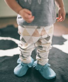 Organic Toddler Leggings Textured Triangles in Brown by KindredOAK, $38.00