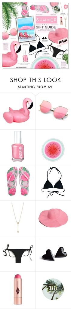 """Summer Gift Guide"" by justlovedesign ❤ liked on Polyvore featuring Essie, Havaianas, Reef, EF Collection, H&M, Madewell, Charlotte Tilbury, Urban Decay, giftguide and Summer"