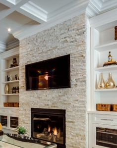 10 Extraordinary Ideas of Living Room with Fireplace . ideas living room 10 Extraordinary Ideas of Living Room with Fireplace - ARCHLUX. Fireplace Tv Wall, Fireplace Built Ins, Fireplace Remodel, Fireplace Surrounds, Fireplace Design, Fireplace Ideas, Basement Fireplace, Modern Stone Fireplace, Farmhouse Fireplace