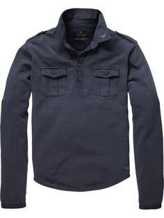 Scotch and Soda - Long sleeve worker polo $110