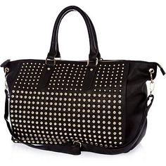 Black studded holdall bag £55.00