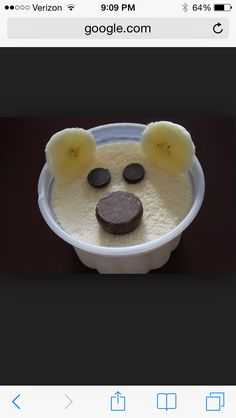 Polar bear ice cream cups