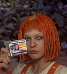 Leeloo played by Milla Jovovich inThe Fifth Element (1997).