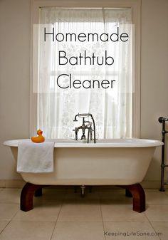 Homemade Bathtub Cleaner - Keeping Life Sane