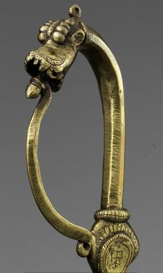 Bichwa Dagger Dated: 18th century Culture: Indian Comes with a brass hilt in the form of a dragon.